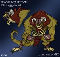 Monster Collection - 03 - Shaggy Beast - 10-7-15 by Mattartist25