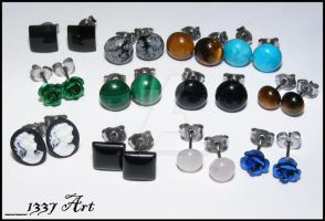Stud Earring Batch by 1337-Art