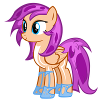 (OLD) My Little OC: Purple Flower by AB-Anarchy