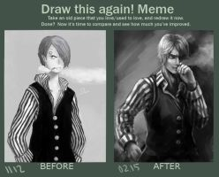 Draw this again - Sanji by Swallowchaser
