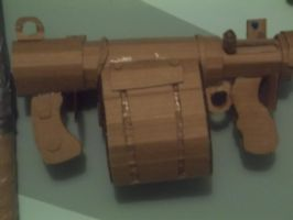 Cardboard Stickybomb launcher by SpoonSauce