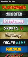 Video Game Text Styles by PhotoshopStyles