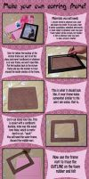 Make your own earring frame by MyntKat