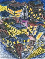 Pencil in the City Lights by mangafox23