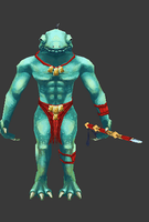 Chameleon Spearman by Lowpoly-Workshop