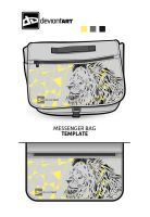 Cubism Messenger Bag Design - Lion by wflead