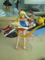 Sailor Venus carring Sailor Moon by MrL3821