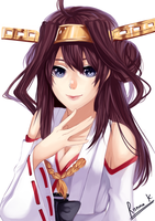Kongou (Kantai Collection) by serrajea