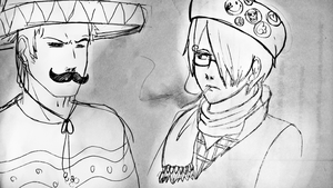 Mexican-Zoro and Hipster-Sanji by Perinel