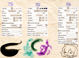 Some Of My PTS Brushes by Pizza-Alert