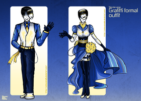 Grafitti Formal Outfits by UmmuVonNadia