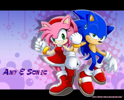 Amy and Sonic SA3 by Extra-Fenix
