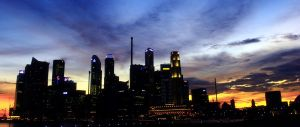 Singapore City Landscape by DrakeXaos