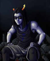 Equius Zahhak and his Robo Pile by ippylovesyou
