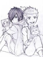 KIDS - Rogue, Sting, Frosch and Lector WIP by Reyos-Cheney