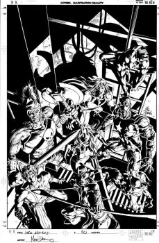 Dark Avengers 10 Cover Pencil by MikeDeodatoJr
