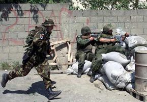 Serbian Policemen and Soldiers hold their ground. by SerbPatriot