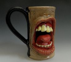 Unbrushed Teeth and Tongue Mug- FOR SALE by thebigduluth