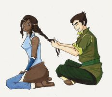 Korra and Bolin by akatsukicloud227