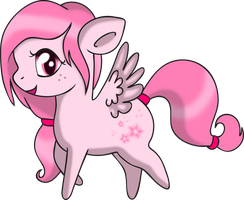 Commish: Petal Rain - Chibi by Squeemishness
