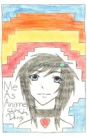 Me, just as anime. by sararification