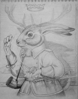 Basil Stag Hare - uncolored by munchengirl