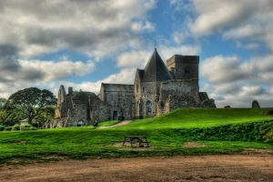 Inchcolm Abbey II by adischordantrhyme