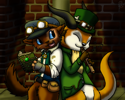 Steampunk Evening by DragonwolfRooke