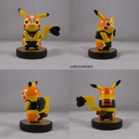Cosplay Pikachu Luchador Amiibo by ChibiSilverWings