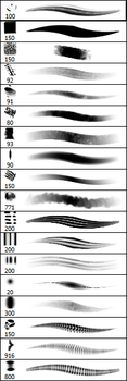 My current Brushes by cosmodog