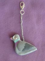 Glitz Grunge Pigeon Charm by VoltaicCreations