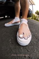 my painted shoes..err.. toes.. by komiko-chan