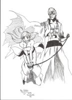 Grimmjow and Orihime by AkanePL
