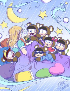 Osomatsu-san - Goldie-chan and the SIX NEETs! by sanna-mania