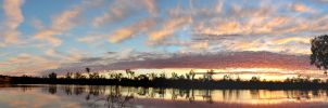 Sunrise on the Murray by djzontheball