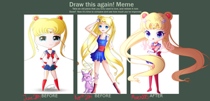 Sailor Moon Draw this again by KelsoBunny