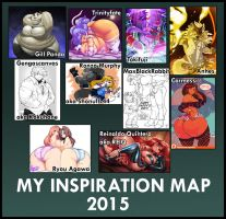 My Inspiration Map 2015 by DoctorSoull