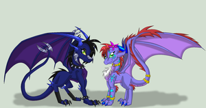 Veksi and Jeksi by SighriaDragoness12