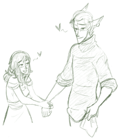 OTP Challenge 01 - Holding Hands by Lear-is-not-amused