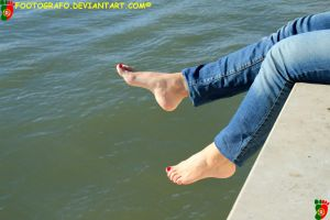 Feet and Water by Footografo