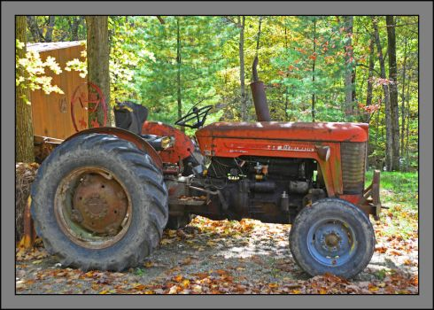 Massey-Ferguson tractor. 800-2082, with story by harrietsfriend