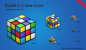 Rubik's Cube Icon by shlyapnikova