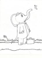 Elephant Gets Distracted by Alaniers