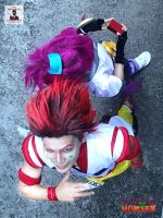 Hisoka and Machi by Aienm