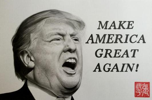 Donald Trump Portrait (Make America Great Again) by yipzhang5201314