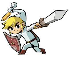 Minish Cap Link - White by lainsnavi