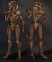 Turian Male naked by AnnMarKo