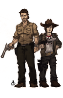 Walking Dead RICK and CARL by jasinmartin