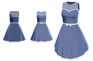 MMD - Blue Dress by SuminoChan
