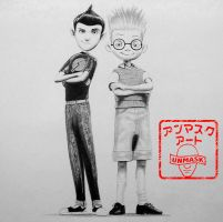 Lewis and Wilbur From Meet The Robinsons by UnmaskArt